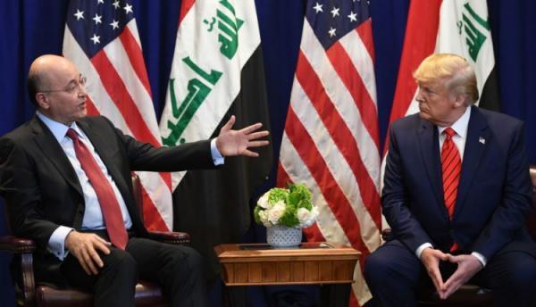 ترامب والرئيس العراقي يتفقان على مواصلة الشراكة الأمنية بين البلدين