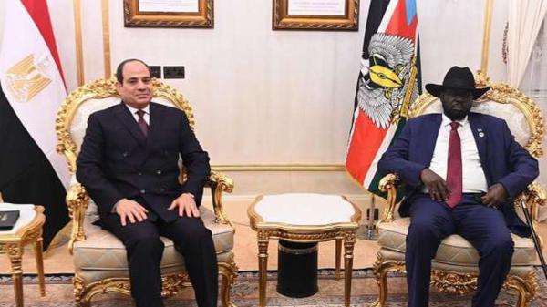السيسي لسلفا كير: مصر ستظل السند الوفي والشقيق الحريص على مصلحة شعبكم